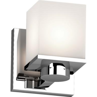 Sharyn 1 Light 4 5 In Chrome Indoor, Chrome Bathroom Sconce