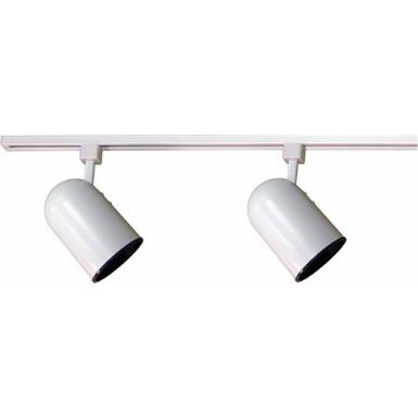 Volume Lighting V2733 2 Ft Light Indoor White Track Kit With Round Back Cylinder Heads