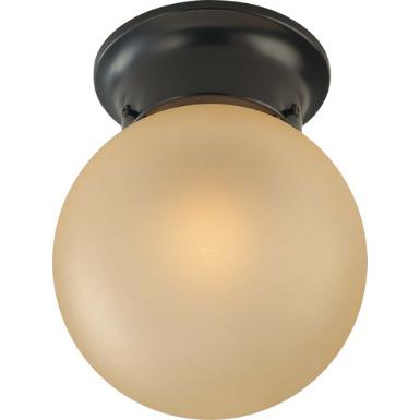Volume Lighting V7312 Trinidad 1 Light Antique Bronze Flushmount