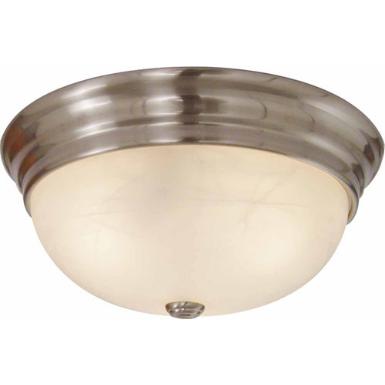 Volume Lighting V6241-33 1-Light Brushed Nickel Flush Mount Ceiling Fixture